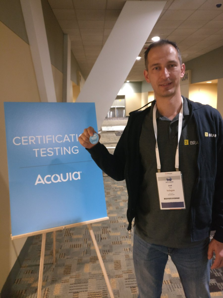 Happy for becoming Acquia Certified